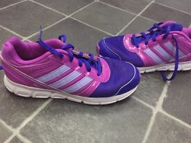 Ladies children's adidas pink & purple trainers uk 4 can post for £3