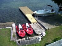 Loughborough lake vacation rental with row boat and kayak