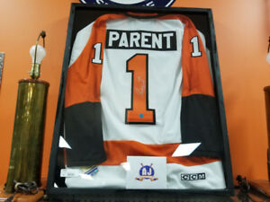 Bernie Parent Signed Flyers Jersey (Certificate Included)
