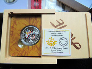 Looney Tunes Complete Set 10 coins of solid 999.9 proof silver London Ontario image 6
