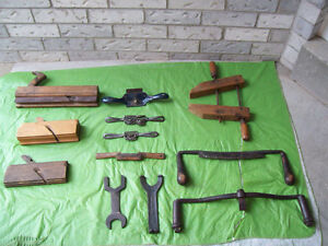 Antique TOOLS,Wood CLamp, PLANES + More* SEE EACH PRICE