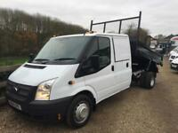 FORD TRANSIT 350 DOUBLE CAB UTILITY TIPPER 14 REG