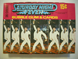 1977 Saturday Night Fever Unopened Box (Cards)