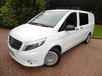 2015/65 Mercedes-Benz Vito 114 2.1CDI BlueTEC ELWB 5 SEAT CREW VAN, AIR CON