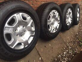 "5x Brand new 2017 Ford Ranger 17"" alloy wheels +NEW Continental tyres Wildtrak 4x4"