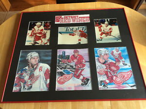 Custom framed Detroit Redwings collage London Ontario image 1
