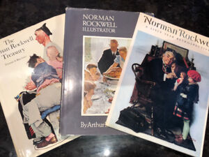 Three Norman Rockwell Coffee Table Books