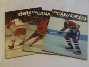 LOT DE 3 REVUES SPORTIVE CANADIENS ANNÉE 1968 a 1983