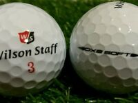 Wilson Staff DX 2/3 Golf Balls x 50. Pearl Condition