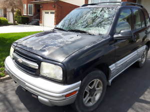 2002 Chevy Tracker  2.0 Litre,  4 cyl,  5 speed standard