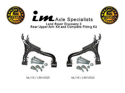 Land Rover Discovery 3 Rear Upper Suspension Arms, Right + Left + Fitting Kits