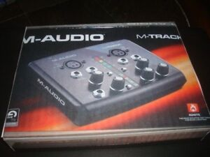 M AUDIO M TRACKS WITH RECORDING MIKES