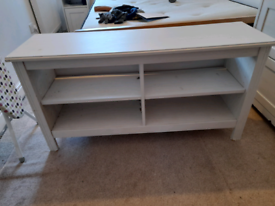 IKEA white TV Unit - 4 shelves