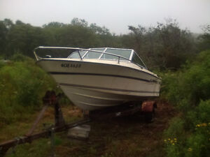 17' Grew, project boat hull and trailer