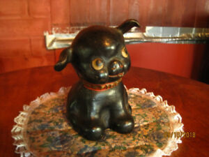 Old cast iron Fido dog bank. All original paint. Measures 4 7/8""