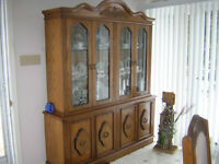 dining room table, 6 chairs and china cabinet for sale