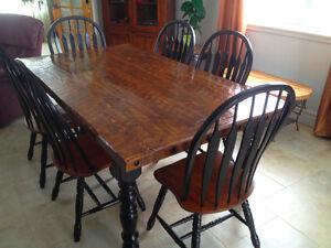 table en bois de grange Saint-Hyacinthe Québec image 2