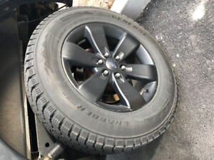 "FORD OEM 20"" FX4 F150 Rims and Winter Tires Used 1 Season"