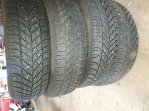 215 70R15 Goodyear Ultragrip winter tires