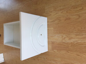 Bathroom cabinet drawers with tracks