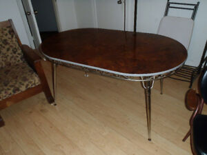 Retro Table with nice arm chair.