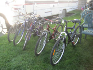 27 adult bikes for 30 to 75 dollars each