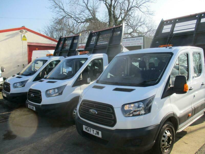 888a6c0bc6 2017 17 reg FORD TRANSIT SINGLE CAB ALLOY TIPPER 350 EURO 6 TWIN WHEEL ONE  STOP
