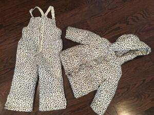GAP leopard snowsuit!!!  only used twice!