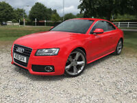 2010 Audi A5 S Line Special Edition 2.0TDI 170 bhp in RED