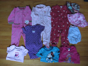 Baby Girl Clothing- sizes 0-12 months