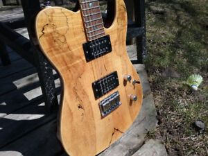 Fender Tele Custom HH Spalted Maple and Mahogany