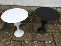 Pair of metal tables