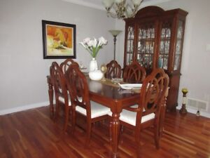 Dinning table with hutch and buffet