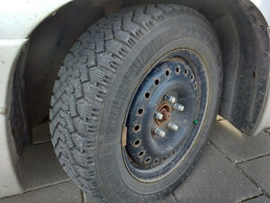 4 Winter tires on steel rims London Ontario image 5