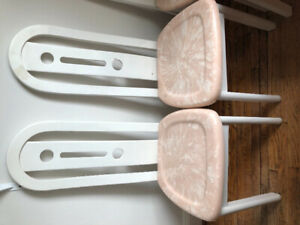 6 Pink Marble Dining Chairs