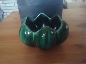 Blue Mountain Pottery Flower Dish