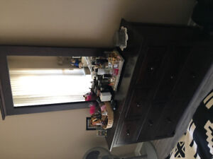 Bed, Mattress and dresser for sale