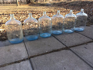 6 Glass Carboys - $100