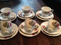 China tea service six of each perfect cond