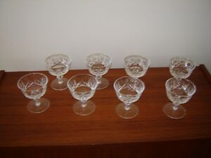 8 Antique crystal cocktail or dessert stemmed dishes London Ontario image 2