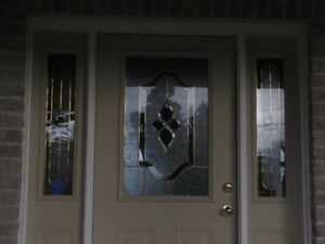 Decorative glass insert - front door & 2 matching side panels