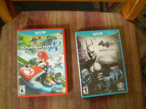 wii u mario kart 8 & batman/arkham city/armored edition