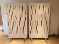 2 partition screens panel