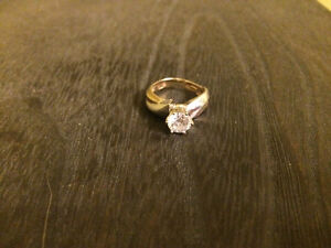 Simulated Diamond Two-tone Ring St. John's Newfoundland image 3