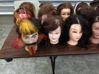 Mannequin heads, Long, medium and Short Hair