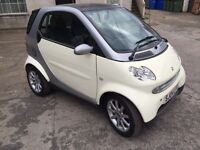 2004 (04) Smart ForTwo Passion City Coupe cream full year's MOT.