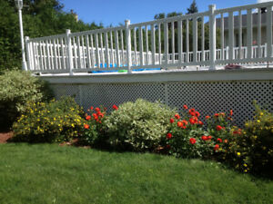 """PVC Durable Deck 32'x32' with Above ground pool 24"""""""