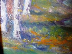 "Colorful Original Oil Study ""After the Storm"" by M. Rowntree Stratford Kitchener Area image 5"
