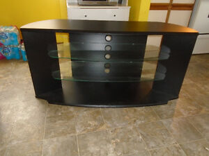 black and glass tv unit **new price**
