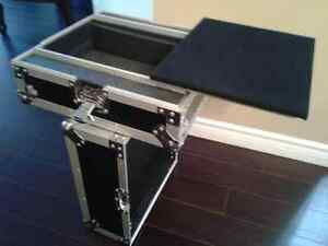"Dj laptop stand case for  10"" mixer"